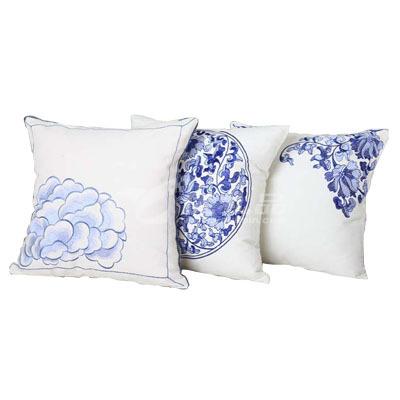 青花瓷刺绣系列帆布抱枕定制