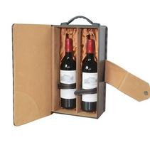 格仔精裝雙支酒盒定制