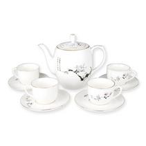 套裝茶具 5頭陶瓷茶具 高溫玉瓷茶具定制