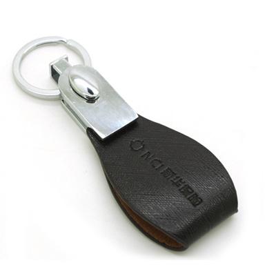 皮質金屬鑰匙扣 可選擇其它多種圖案 形狀