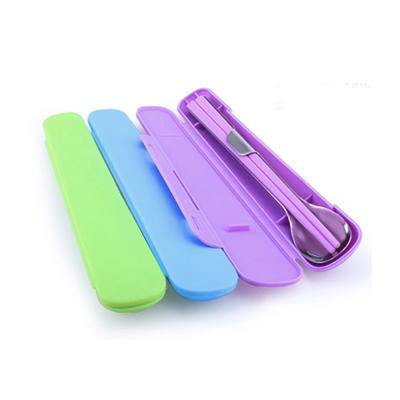 创意不锈钢折叠便携餐具筷勺子2件套装