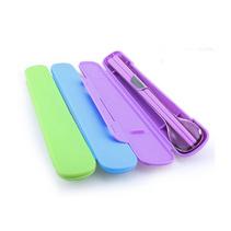 創意不銹鋼折疊便攜餐具筷勺子2件套裝