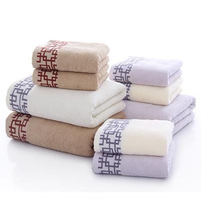 纯棉套巾 一浴巾二毛巾 窗棂套巾毛巾礼盒必威bet