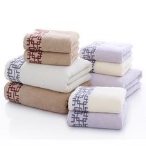 纯棉套巾 一浴巾二毛巾 窗棂套巾毛巾礼盒定制