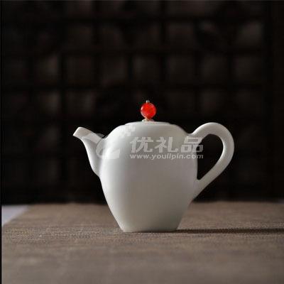 沐春堂羊脂白瓷功夫茶具套裝無光白釉景德鎮陶瓷茶壺茶杯禮品