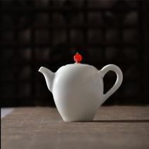 沐春堂羊脂白瓷功夫茶具套装无光白釉景德镇陶瓷茶壶茶杯礼品