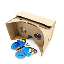 新款VR眼鏡虛擬現實眼鏡定制   谷歌手工版手機3D眼鏡