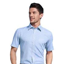 45支全棉男款條紋短袖襯衫定制