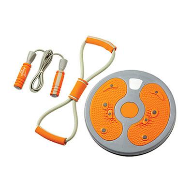 健身器材三件套跳绳拉力器扭腰盘定制