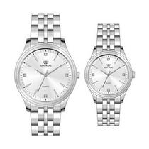 天王表  石英手表時尚全鋼帶情侶表定制
