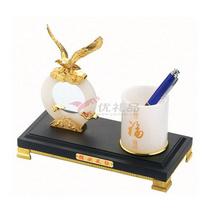 辦公桌擺件/琉璃玉 獨領風騷 筆筒