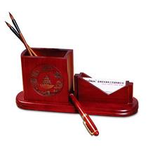 《北京風光》組合筆筒 花梨木組合筆筒