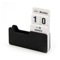 日期diy創意小巧桌面擺件 轉片式萬年歷定制