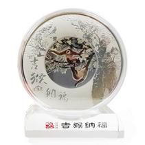 吉猴納福 雞年大銀盤  定制