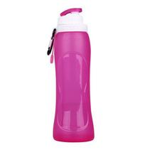 便攜可折疊水瓶定制運動水壺自行車水壺硅膠創意禮品