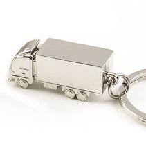 實心立體大貨車集裝箱卡車金屬汽車模型鑰匙扣鑰匙鏈可定LOGO