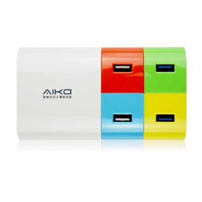 牛X 转换插座定制 时尚版 AD041 4USB 充电器插座 多口USB电源适