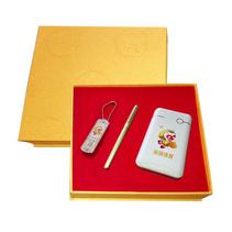 雞年商務創意禮品套裝 U盤 移動電源  簽字筆三件套定制