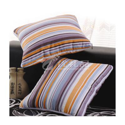 彩條抱枕被
