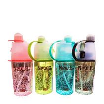 創意學生塑料水瓶噴霧運動水杯子隨手杯帶蓋便攜太空旅行水壺定制