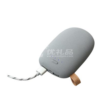 创意鹅卵石充电宝定制10400毫安通用小巧便携移动电源定制