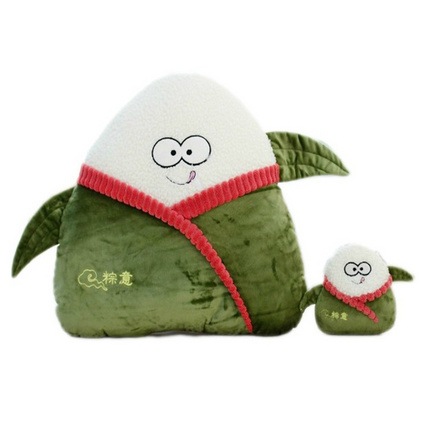 創意粽子毛絨玩具靠墊抱枕大號娃娃玩偶端午節禮物可愛禮品裝飾品