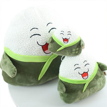 端午節粽子抱枕卡通粽子15cm竹炭包毛絨玩具抱枕 創意粽情粽意禮物