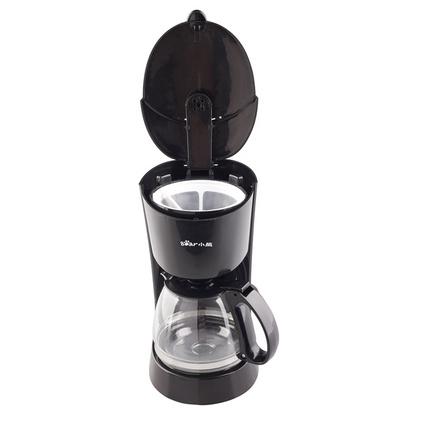 Bear/小熊咖啡機家用 防滴漏旋轉式迷你美式全自動小型煮咖啡壺 籃色、黑色