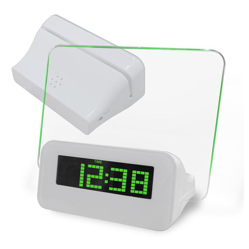 新款创意LED电子钟 荧光留言板电子钟 创意闹钟