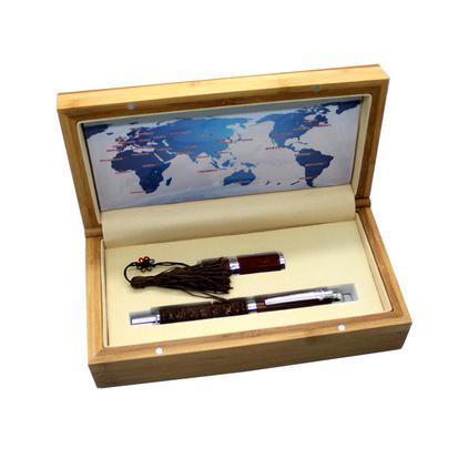 高档红木笔红木8GU盘套装配竹木包装盒