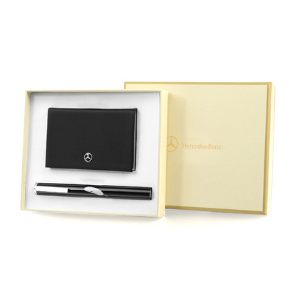 NANV時尚商務禮品套裝 簽字筆+名片盒