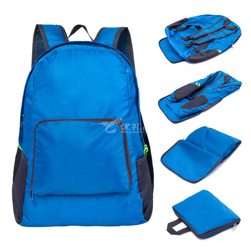 韓版戶外旅行雙肩背包定制 可折疊旅行收納包 登山運動折疊包