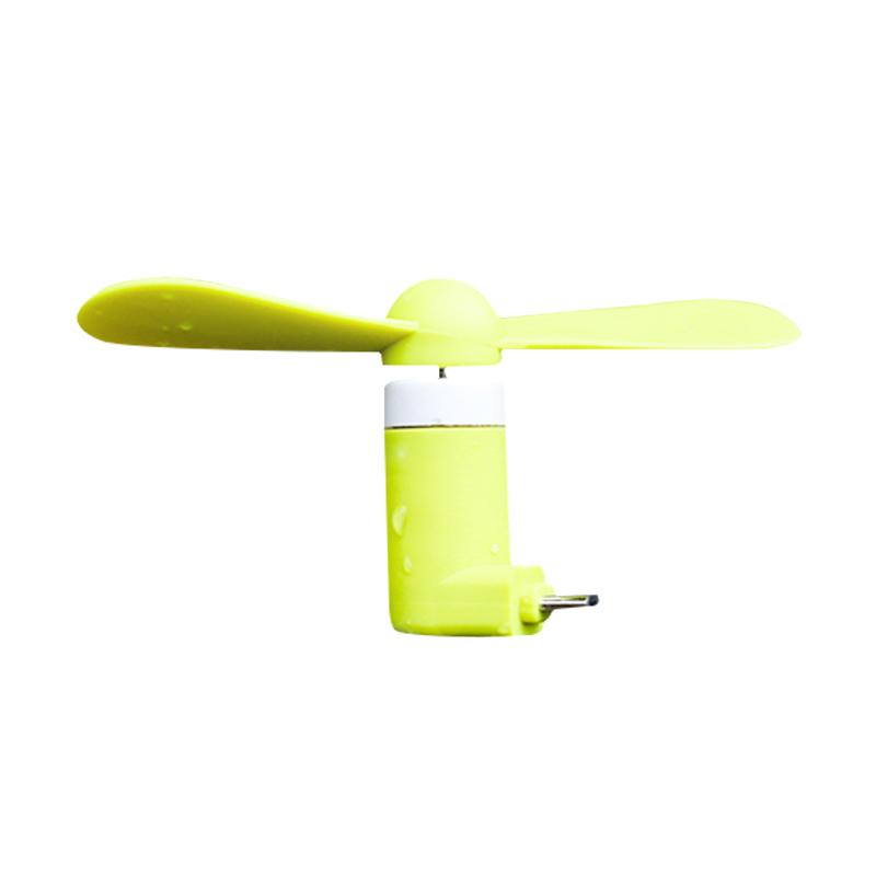 苹果手机迷你尾插风扇安卓充电口通用风扇 创意双叶扇 USB小风扇定制