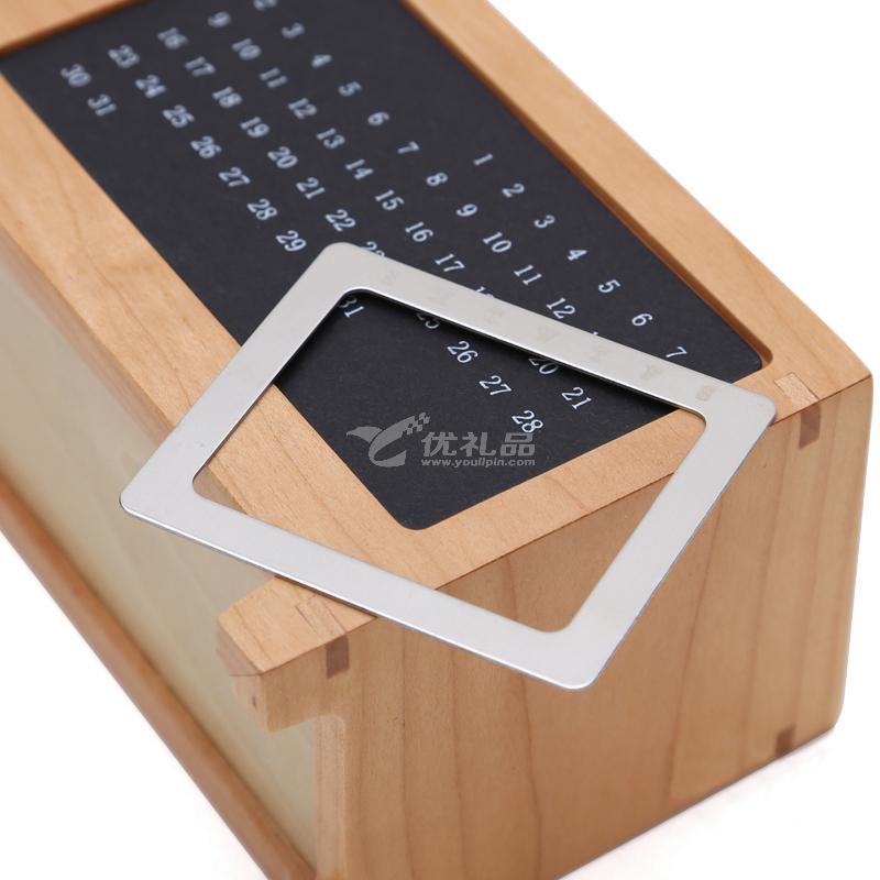 萬年歷筆筒 商務辦公禮品實用 創意時尚辦公用品 多功能實木桌面收納盒擺件