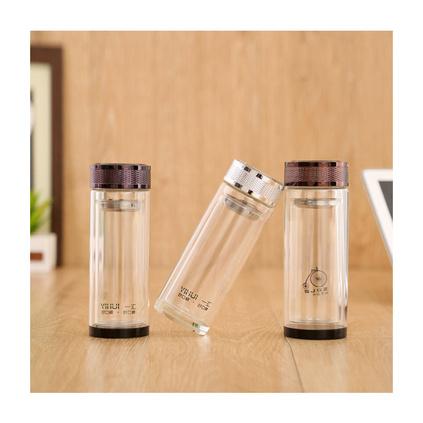 雙層玻璃杯耐高溫玻璃杯禮品杯定制300ml