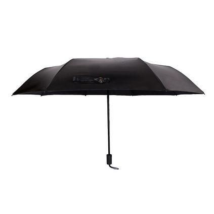 双层防晒紫外线遮阳伞太阳小黑伞雏菊晴雨伞女三折叠两用