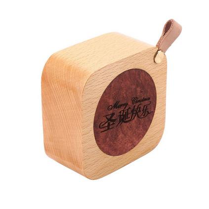 中秋节礼品木质音乐盒 原木八音盒定制图案logo旅游产