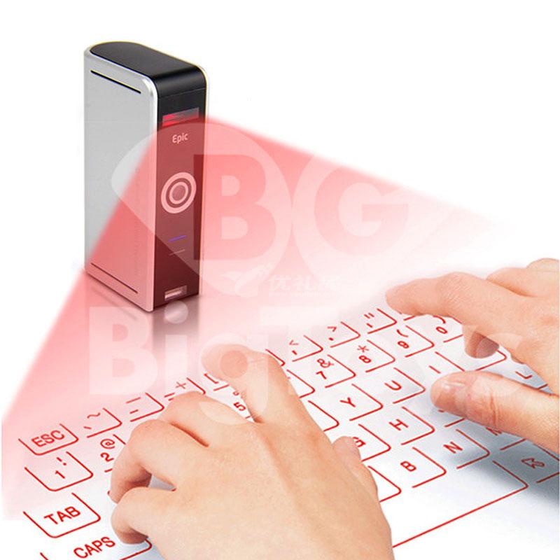 第三代Epic激光镭射键盘创意礼品  无线虚拟电脑?#21482;?#34013;牙投影键盘