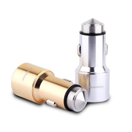 紐曼車載充電器頭雙USB萬能一拖二點煙器車充