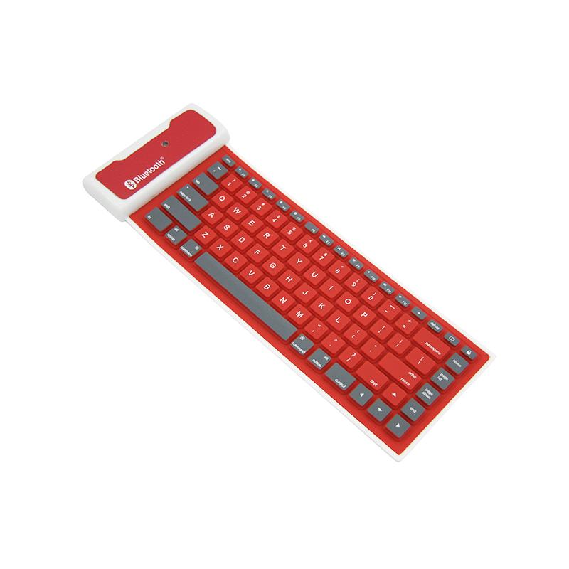 手機ipad平板 ISO安卓系統通用無線藍牙防水可折疊硅膠軟鍵盤