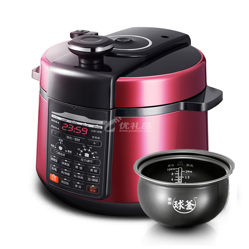 SUPOR/蘇泊爾 電壓力鍋雙膽5L飯煲高壓智能正品