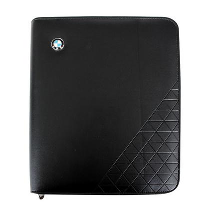 A5多功能經理夾 皮質活頁帶計算器房產經理夾 可定制logo