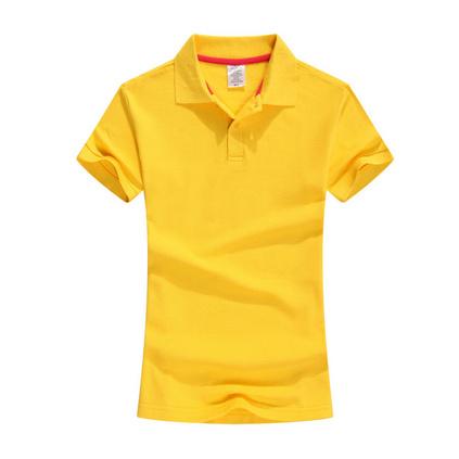 新款200克全棉翻領短袖T恤 女款