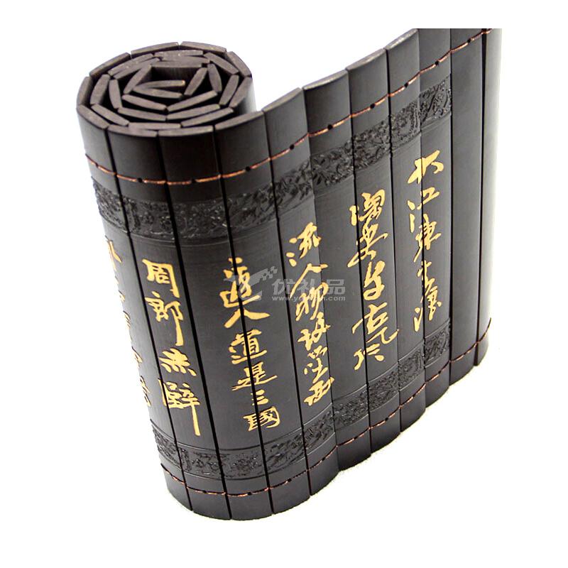 竹制品 竹工藝品 竹簡竹雕定制《赤壁懷古》