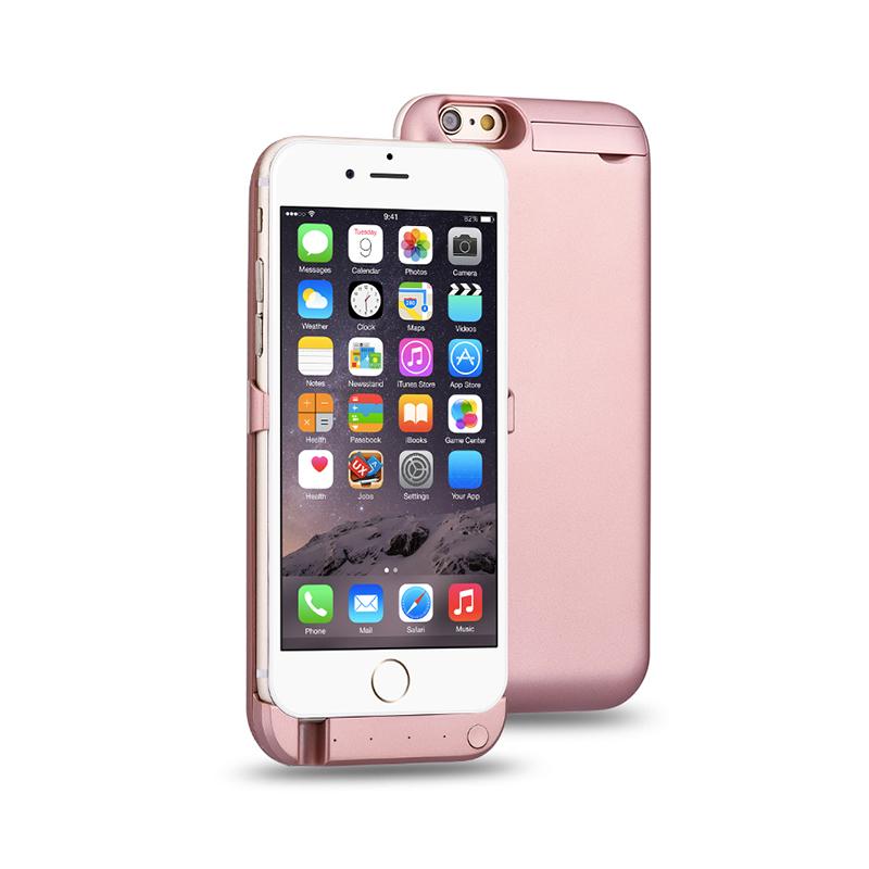 iphone6/6S/6P/6SP超薄背夹式移动电源10000毫安充电宝无线移动电源支架手机壳