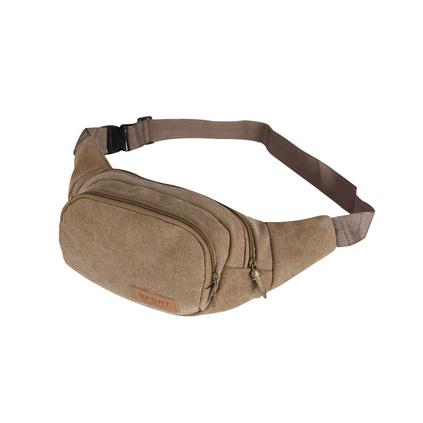男士小斜挎帆布包 戶外運動跑步腰包胸包定制