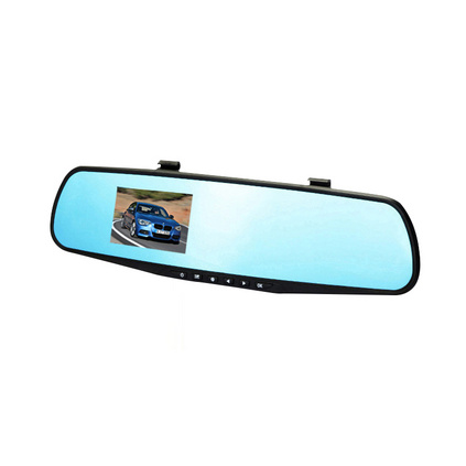 2.8寸藍屏后視鏡行車記錄儀 1080P高清車載記錄儀