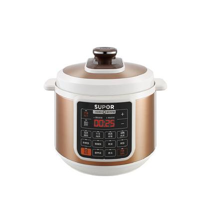 SUPOR/蘇泊爾大容量電壓力鍋6L雙鍋智能正品飯煲