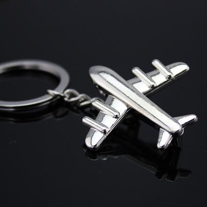 創意實心金屬小飛機汽車鑰匙扣開模定制