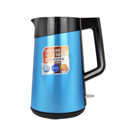 SUPOR/蘇泊爾 電熱水壺 304不銹鋼電水壺保溫燒水壺家用